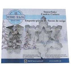 Snowflake Cookie Cutter Set - 10 Piece