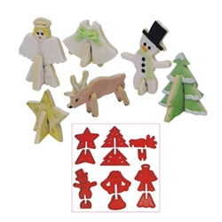 3-D Christmas Cookie Cutter Set