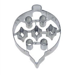 "Ornament 3"" Cookie Cutter With Cut Outs"
