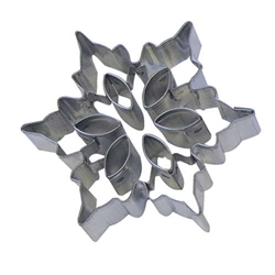 "Snowflake 3"" Cookie Cutter With Cut Outs"
