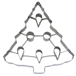 "Tree 7.5"" Cookie Cutter - Stainless Steel"