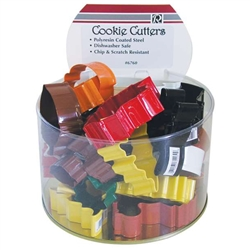 Assorted Colorful Autumn Cookie Cutters - Bucket of 36