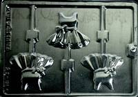 Ballerina Dress Lolly Pop Chocolate Candy Mold with Cybrtrayd Copyrighted Molding Instructions