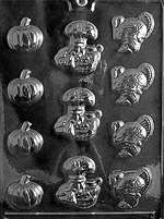 Thanksgiving Assortment Chocolate Candy Mold