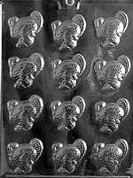Small Turkeys Chocolate Candy Mold