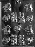 Bite Size Assortment Chocolate Candy Mold