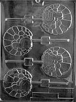 Fancy Turkey Lolly Chocolate Candy Mold
