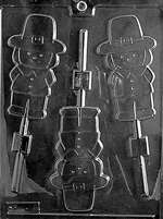 Boy Pilgrim Lolly Chocolate Candy Mold