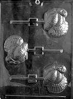 Turkey Lolly Chocolate Candy Mold