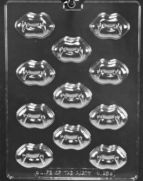 Lips With Fangs Valentine Chocolate Candy Mold With Exclusive