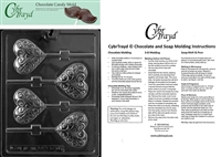 Heart Swirl Lolly Chocolate Candy Mold with Exclusive Cybrtrayd Copyrighted Molding Instructions