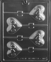 I Heart You Lolly Chocolate Candy Mold