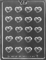Heart Swirl Toppers Chocolate Candy Mold