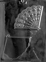Fan Dessert Cup Chocolate Candy Mold with Exclusive Cybrtrayd Copyrighted Molding Instructions