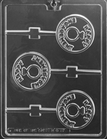 Happy Engagement Lolly Chocolate Candy Mold