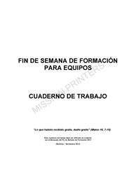 Formation Weekend Booklet Spanish