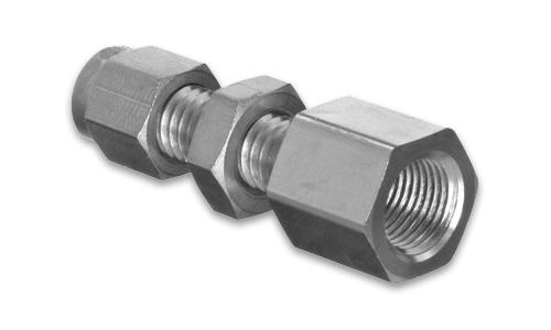 Cbf bulkhead female npt connector stainless steel