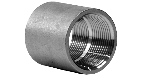 Stainless Steel Threaded Couplers : Stainless steel forged pipe fittings threaded full