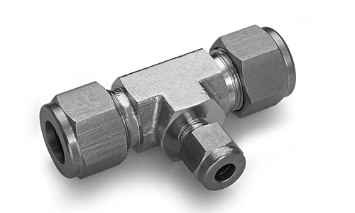 Srut reducing union tee stainless steel compression fittings