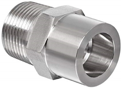 "3/8"" Tube OD x 1/4 NPT Male, tube socket weld fitting - 316 Stainless Steel"