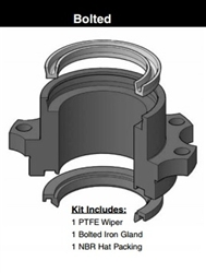 051-KR011-175 / Rod kit with gland, 1-3/4, Bolted