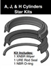 "051-KR080-250, STAR ROD SEAL KIT, 2-1/2"", URETHANE"