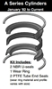 "090-KB001-250, PISTON SEAL KIT, 2-1/2"" BORE, NITRILE / TEFLON (PTFE)"