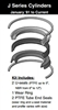"091-KB001-500, PISTON SEAL KIT, 5"" BORE, NITRILE / TEFLON (PTFE)"