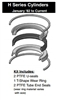 "171-KB001-1200, PISTON SEAL KIT, 12"" BORE, TEFLON (PTFE)"