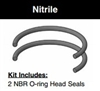 "CB402HL001, HEAD SEAL KIT, 4"" BORE, NITRILE"