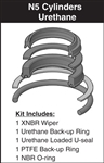 "HSKN5-660-P-08, ROD SEAL KIT, 1"" ROD, URETHANE"