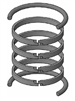 "HV2-KB300-500, PISTON RING KIT, 5"" BORE, CAST IRON / NITRILE"