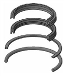 "HV2-KR300-400 ROD SEAL KIT FOR 2002 MILLER HV2 CYLINDER, 4"" ROD, NITRILE / URETHANE"