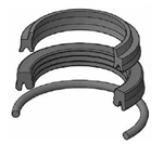 "HV2-KR310-200 MILLER HV2 2004 SERIES ROD SEAL KIT, 2"" ROD, POLYURETHANE & BUNA-N"