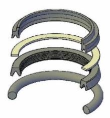 "JV-KR400-138, ROD SEAL KIT, 1-3/8"" ROD, FLUOROCARBON (VITON)"