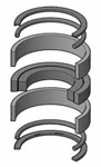 "PH00KH070 / Nitrile Series H Piston Seal Kit, 7.00"" Bore"