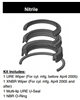 "PH10SH000, ROD SEAL KIT, 1"", NITRILE"