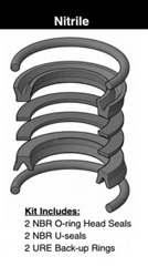 "PK1002A001, PISTON SEAL KIT, 1"", NITRILE"