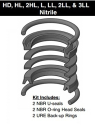 "PK102HLL01, PISTON SEAL KIT, 1"", NITRILE"