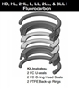 "PK322HLL05, PISTON SEAL KIT, 3-1/4"", FLUOROCARBON (VITON)"