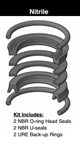 "PK4002A001, PISTON SEAL KIT, 4"", NITRILE"