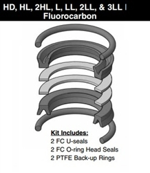 "PK402HLL05, PISTON SEAL KIT, 4"", FLUOROCARBON (VITON)"