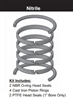 "PR102H0001, PISTON RING KIT, 1"" BORE, NITRILE"
