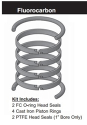 "PR402H0005, PISTON RING KIT, 4"" BORE, FLUOROCARBON (VITON)"