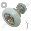 Two Replacement Shower Door Wheels -SDR-019-M5