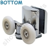 Two Replacement Shower Door Rollers-SDR-M8-B