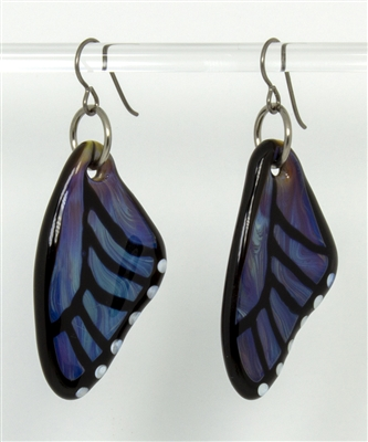 Azure Butterfly Wing Earrings