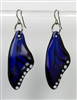 Electric Blue Butterfly Wing Earrings