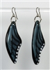 Gunmetal Butterfly Wing Earrings