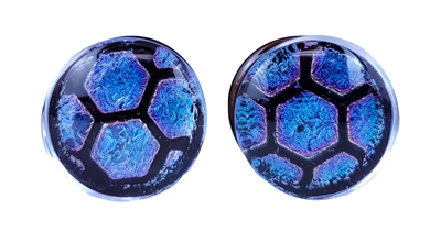 Foil Pattern Plug - Blue Honeycomb